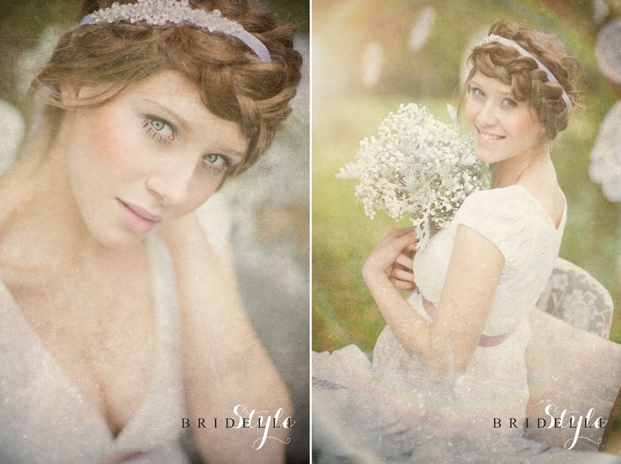 Bohemian Lace wedding session - wedding headband www.WhiteJasmine.pl