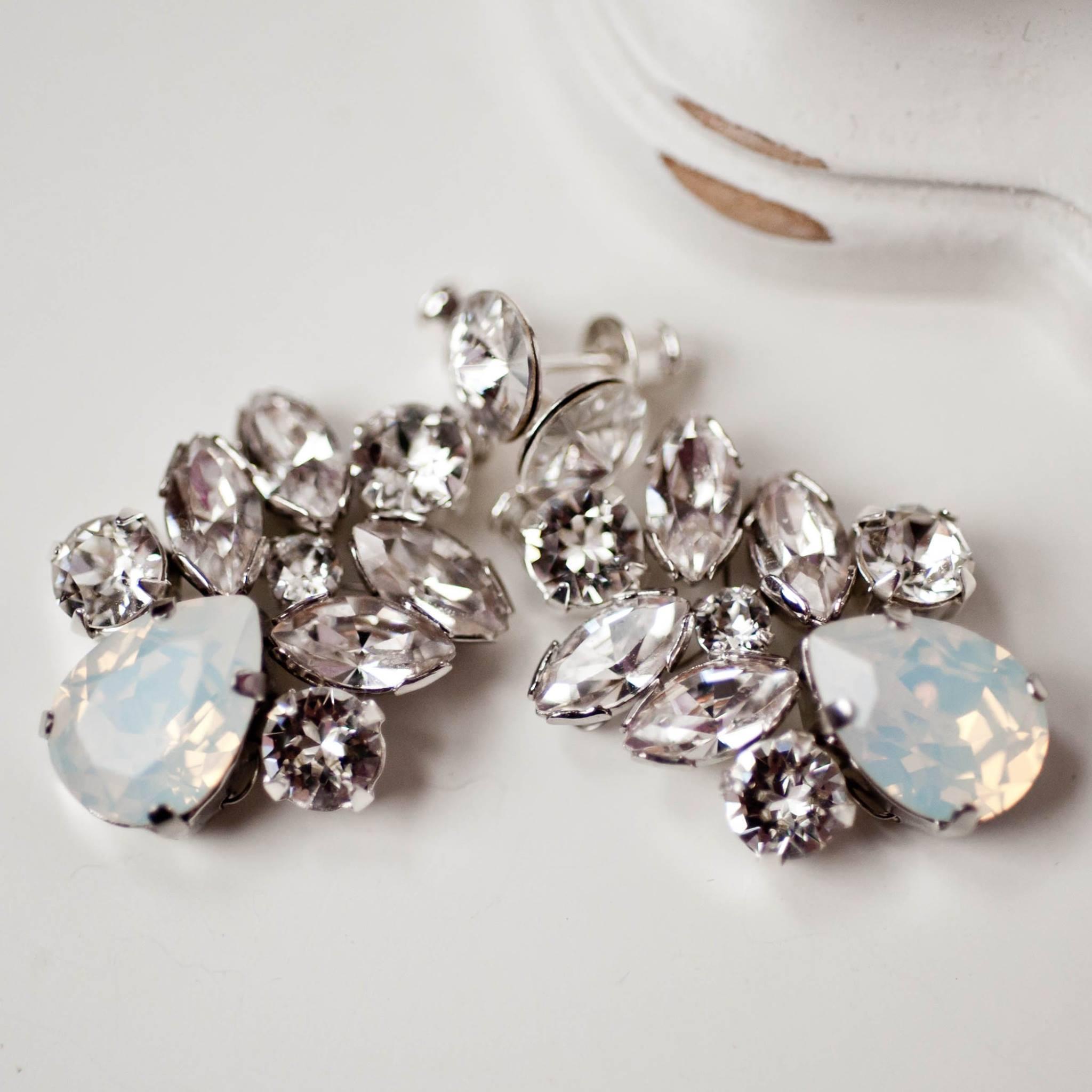 Kolczyki PETITE DROP opal
