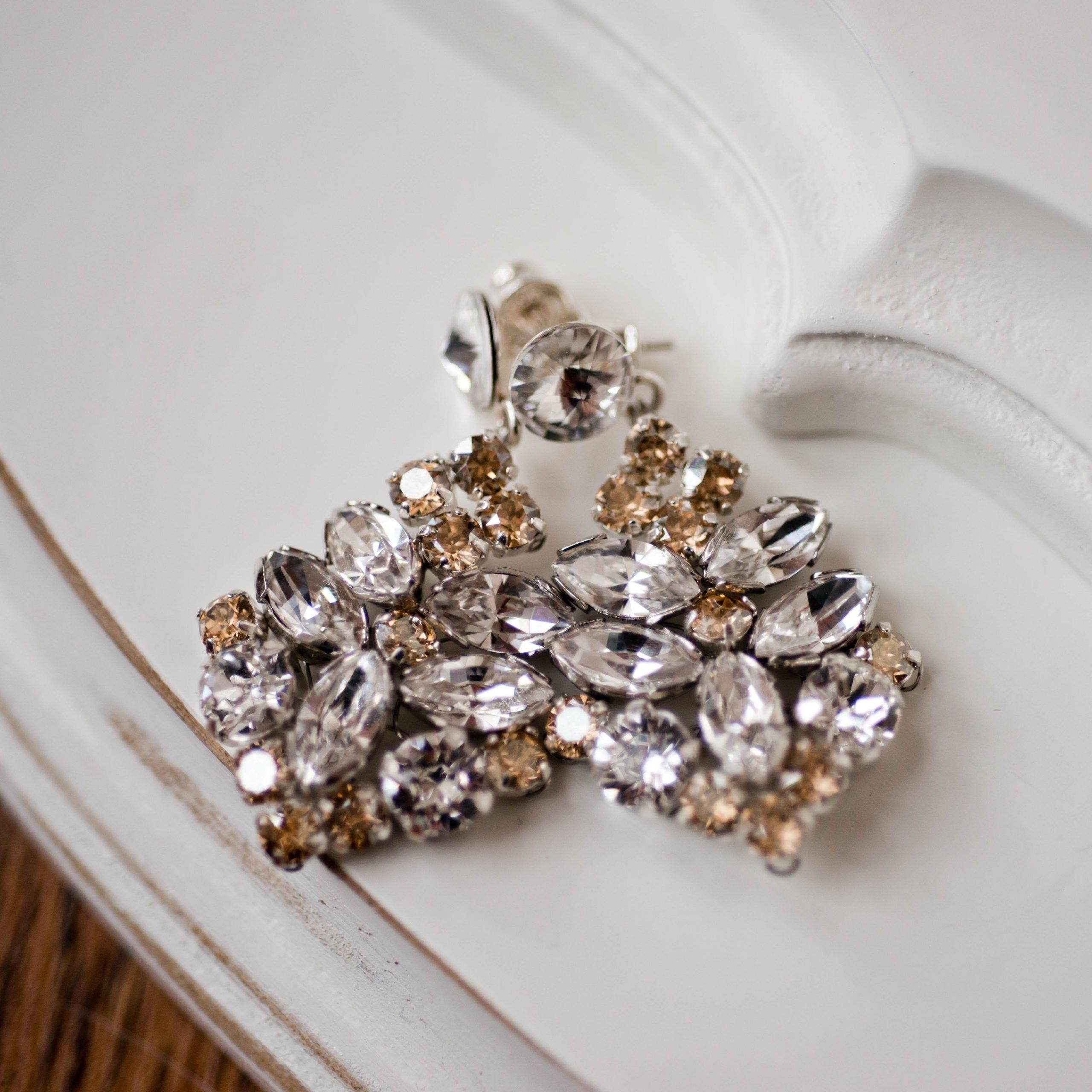 Kolczyki CASSANDRA silver/gold