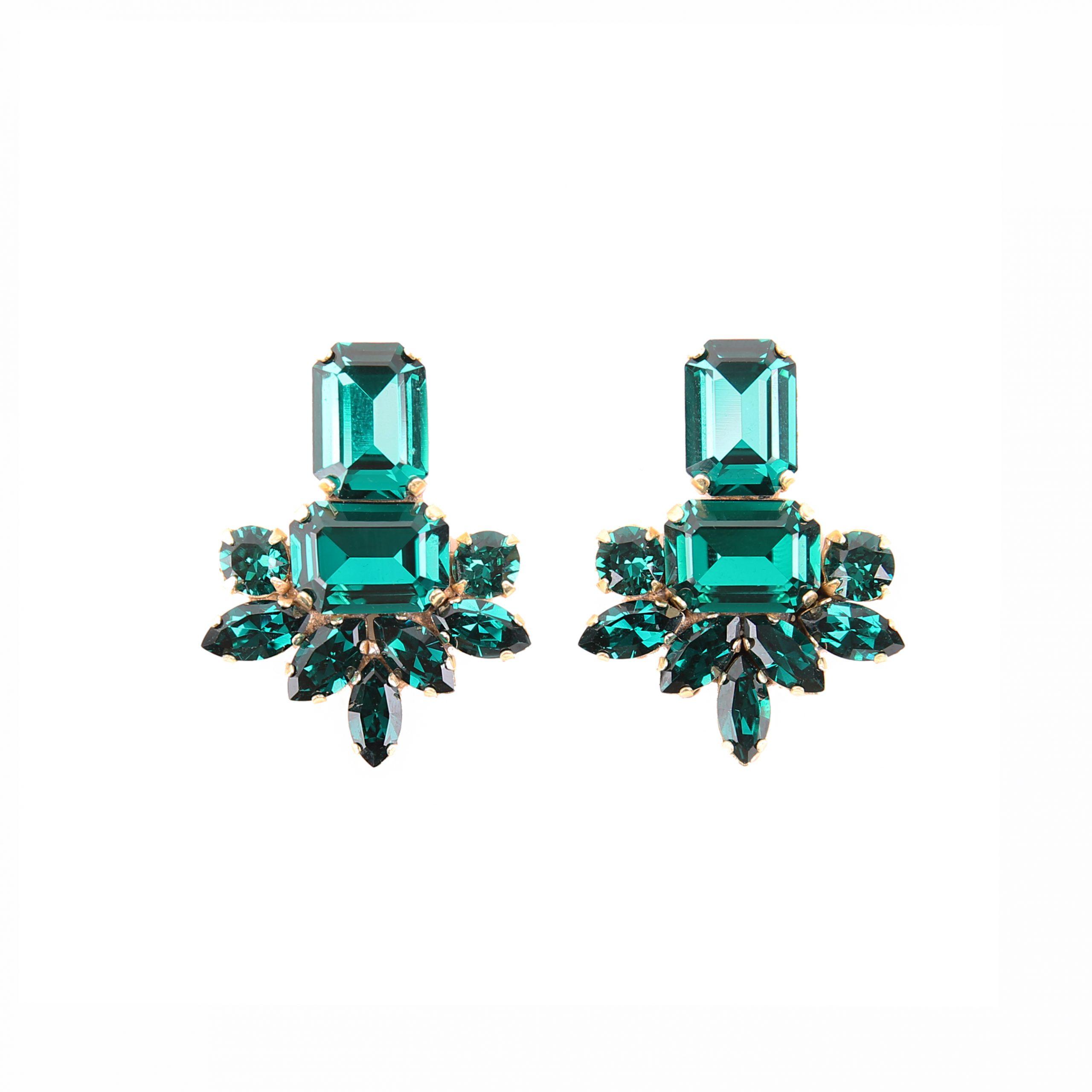 Kolczyki MAIO midi emerald