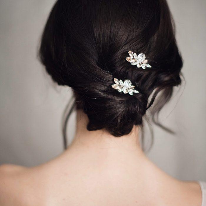 EMILY hair pins White Jasmine Accessories 1